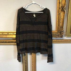 Free People long sleeve washed out vintage look